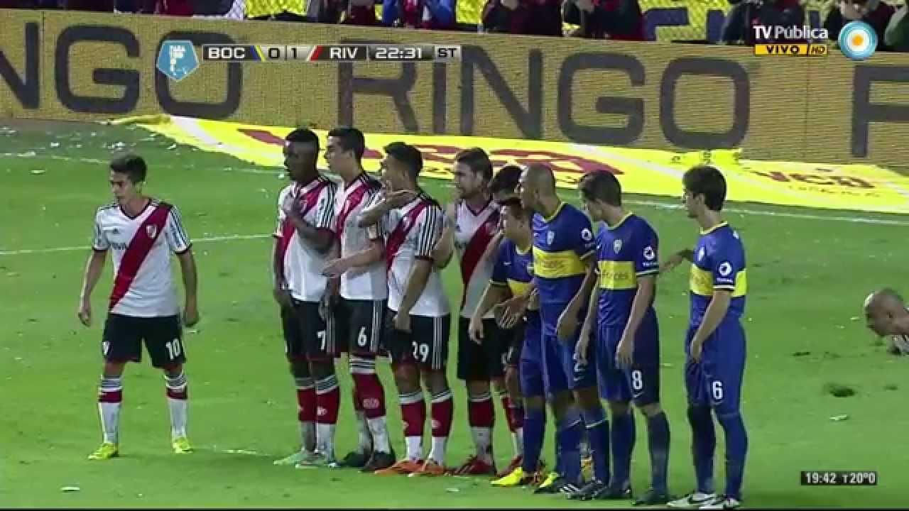 Gol de Riquelme. Boca 1 - River Plate 1 | Torneo Final 2014 - Fecha 10