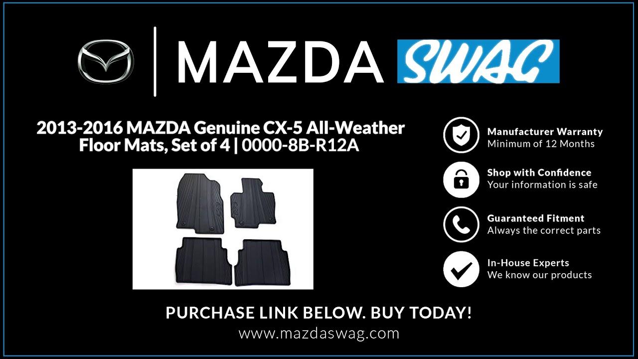 2013 2016 Mazda Genuine Cx 5 All Weather Floor Mats Set Of