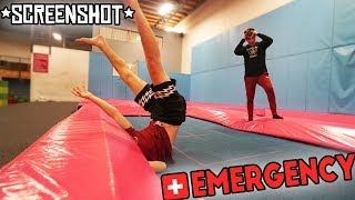 KID BREAKS HIS NECK AT THE TRAMPOLINE PARK!!! (Trampoline Park Injury / Fail!)