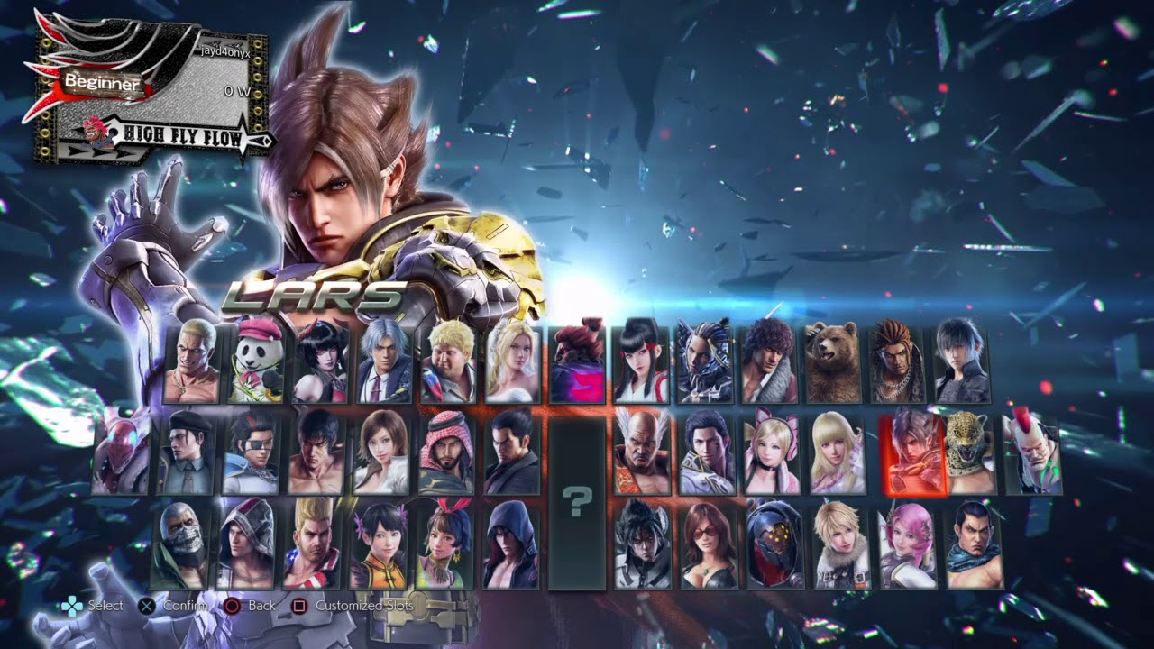 Tekken 7 Season 1 Character Select Youtube