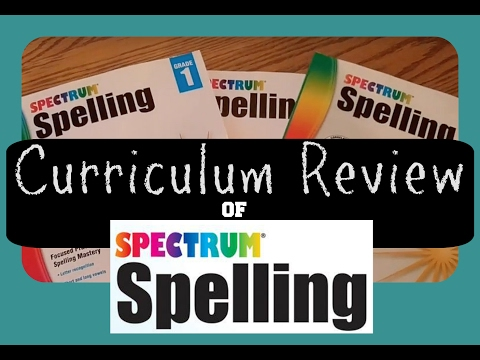 Spectrum Spelling Workbooks || Homeschool Curriculum Review