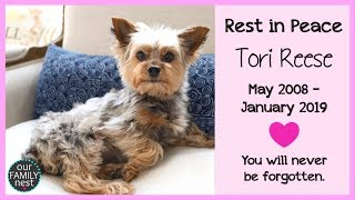 WE WILL NEVER FORGET HER - REST IN PEACE TORI