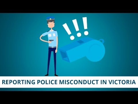 Reporting Police Misconduct in Victoria