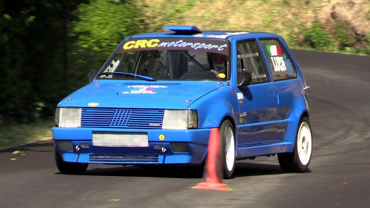 FAST!! +230 HP Fiat Uno Turbo slalom + on board