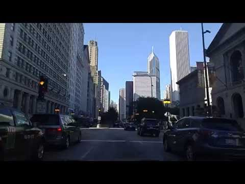 Driving by Downtown Chicago,Illinois