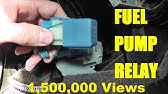 MERCEDES W211 FUEL PUMP FUSE RELAY LOCATION REPLACE - YouTube