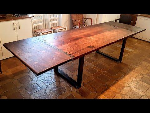Fabrication table à manger + rallonges