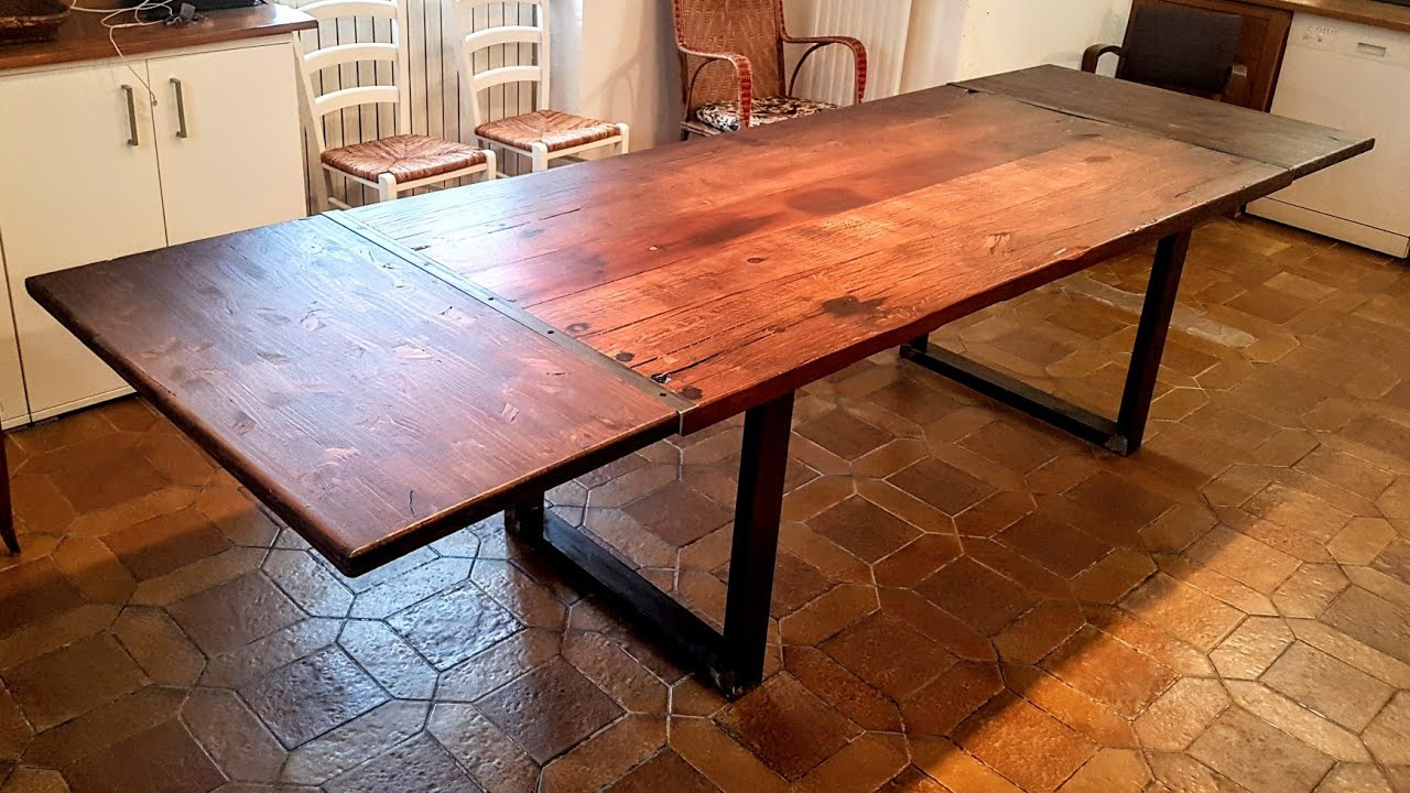 fabrication table a manger rallonges
