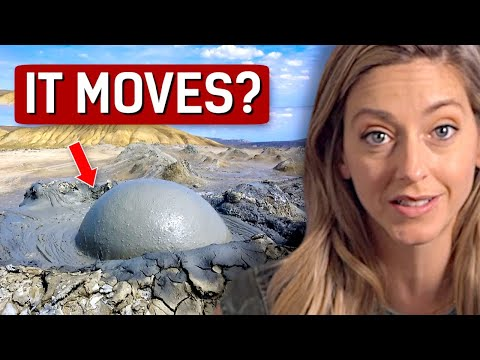Video image: World's only moving mud puddle