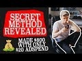 I SPENT $20 and made $800 | *MY SECRET METHOD REVEALED* | Shopify Dropshipping
