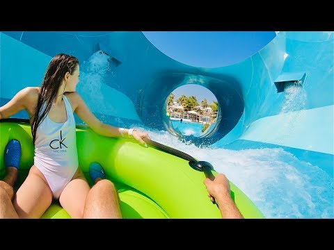 Waterslides at Laguna Waterpark in Dubai