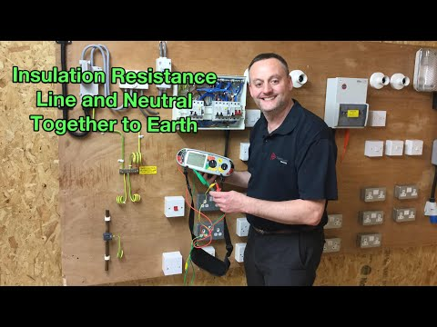 Insulation Resistance Test (Includes Line And Neutral Together To Earth And Between Live Conductors)
