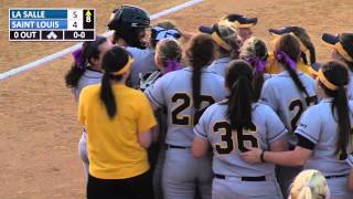 Softball beats Saint Louis At A-10s