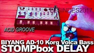 KORG VOLCA BASS + ANALOG DELAY BIYANG BABY BOOM AD-10 Time Machine