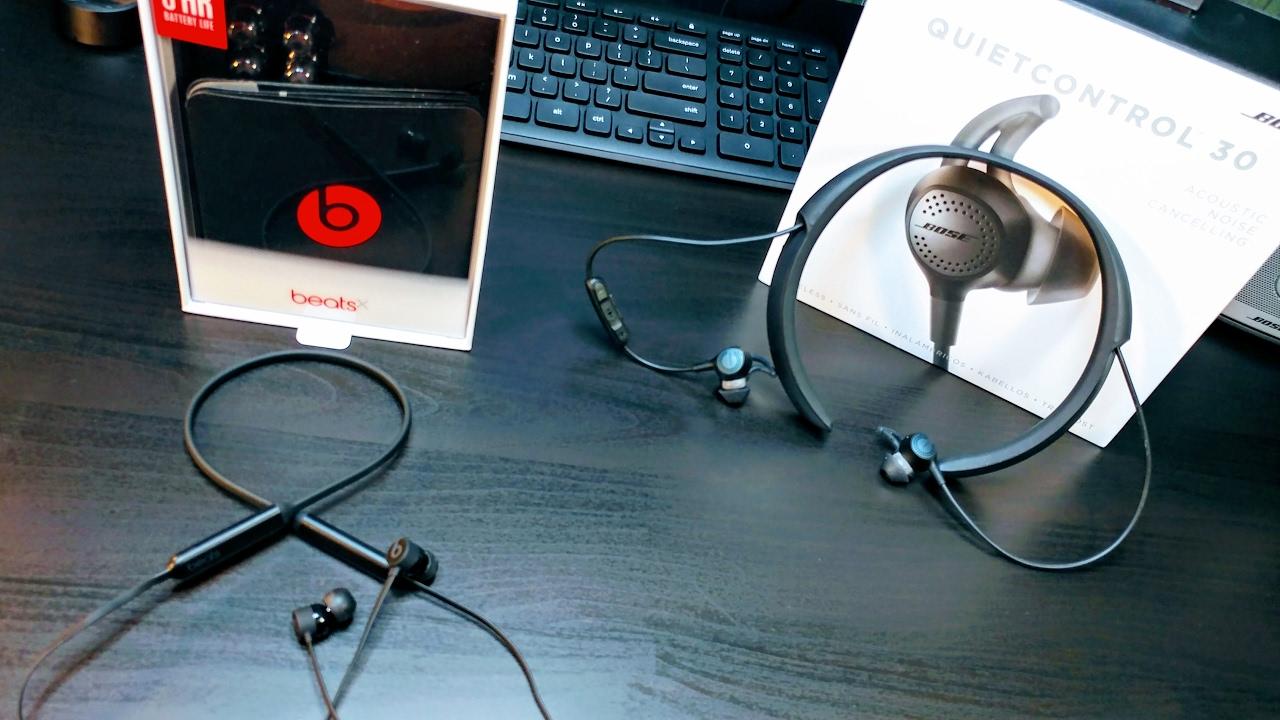 Apple beats X VS BOSE QuietControl 30 (Over Neck Earphones) - YouTube