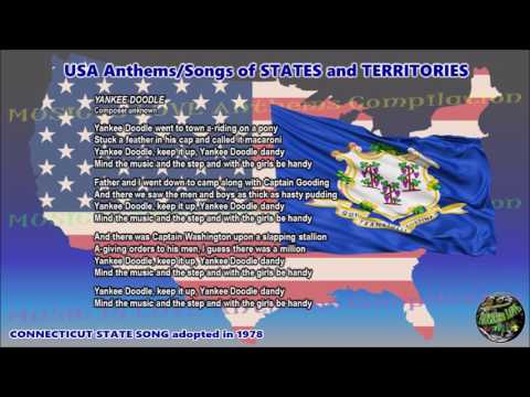 Connecticut State Song YANKEE DOODLE with music, vocal and lyrics