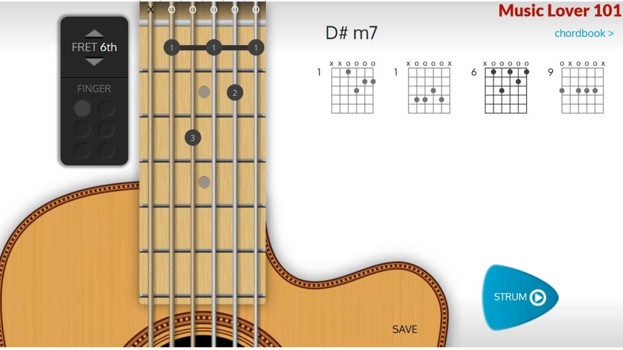 Dm7 Or E Flat Minor 7 Chord Guitar Youtube
