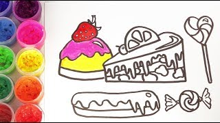 Funny marker | Cheesecake | How to Draw Cakes for Children | Drawing for Kids