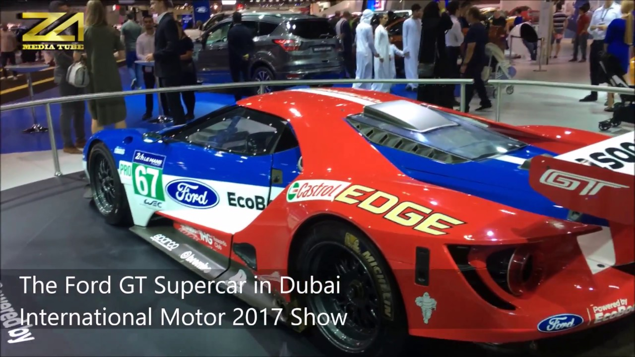 The Ford Gt Supercar In Dubai International Motor Show