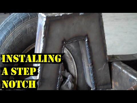 Update #9 - Installing Step Notch - 55 Chevy Truck - How to C notch a Frame