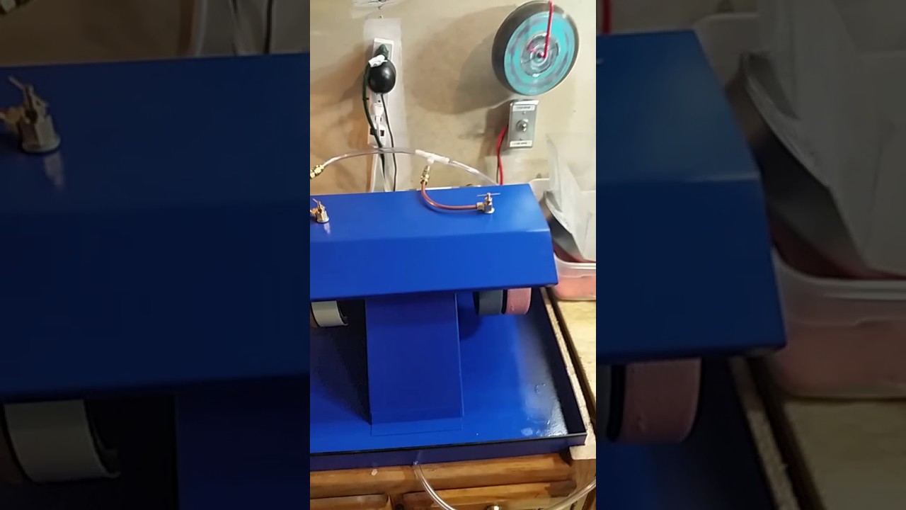 The Cab Lab - lapidary equipment and setup