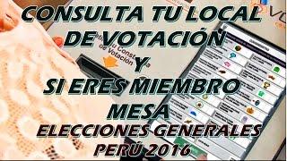 Sepa donde votar 2016 | elecciones generales | voto electrónico