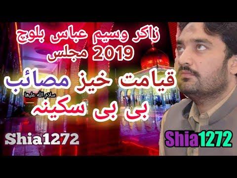 Zakir Waseem Abbas Baloch 2019 Masaib Bibi Sakina s a