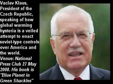 Vaclav Klaus, President of Czech Republic, on Global Warming