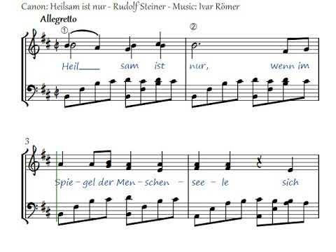 Heilsam ist nur - Rudolf Steiner - music Ivar Römer
