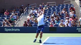 Novak Djokovic Serve + 1st Shot Super Slow Motion - ATP Tennis Serve + 1 Forehand, Backhand, Volley