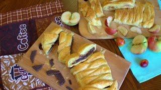 Что вкусненького можно приготовить из слоеного теста ЧАСТЬ 3 // С шоколадом и бананом,и с яблоками.