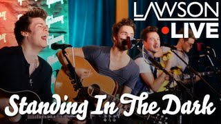 lawson standing in the dark acoustic