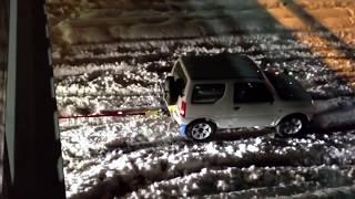 関東大雪!ジムニーが牽引した車とは、samurai spirit「SUZUKI Jimny660cc」
