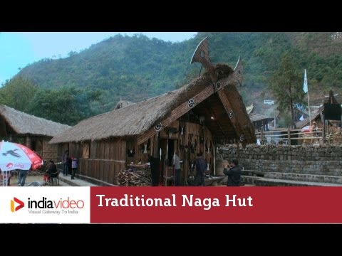 Morung, traditional Naga hut built by Angamis of Nagaland
