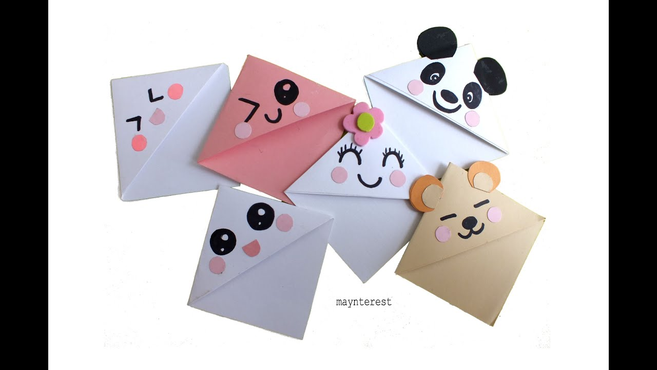 Exceptional Diy Bookmarks Part - 6: DIY Kawaii BOOKMARKS