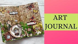 Art Journal - Fairy Houses 🌸😊💕🦋☘️