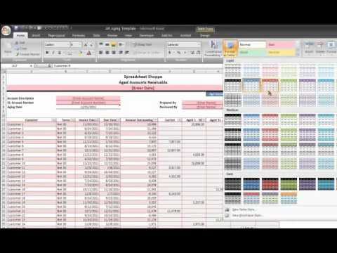AR Aging Excel Template Tutorial Video and Download (Accounts