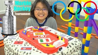Marble Racing Sports: Marble Racing HOCKEY, Short Elimination Tournament Race #46. Toy Channel