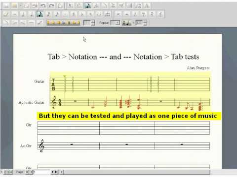 FINALE NOTEPAD 2012 - entering & editing notation & tablature