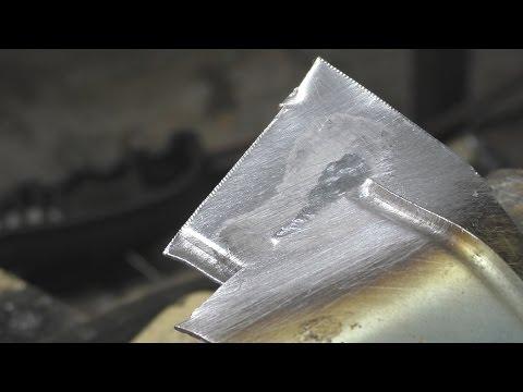Как паять алюминий без аргона . Пайка алюминия припоем Castolin 192FBK .