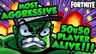 MOST AGGRESSIVE 50v50v2 PLAYER ALIVE | Fortnite