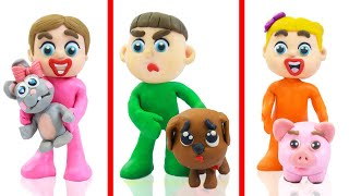 KIDS KEEPS ANIMALS AS PET 💟 LIVE Stop Motion Animation For Babies