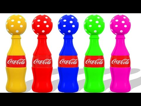 Thumbnail: Colors for Kids to Learn With Easter Eggs Coca Cola Xylophone Hammer for Children - Colours for Kids