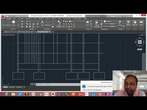 """HOW TO DRAW SECTIONAL ELEVATION OF BUILDING ALONG """"AA""""  //  AUTO CAD DRAWING  //"""