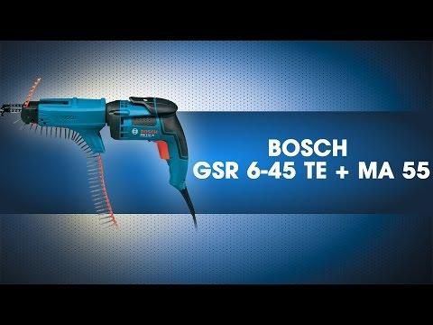 Видео обзор: Дрель-шуруповет сетевой BOSCH GSR 6-45 TE