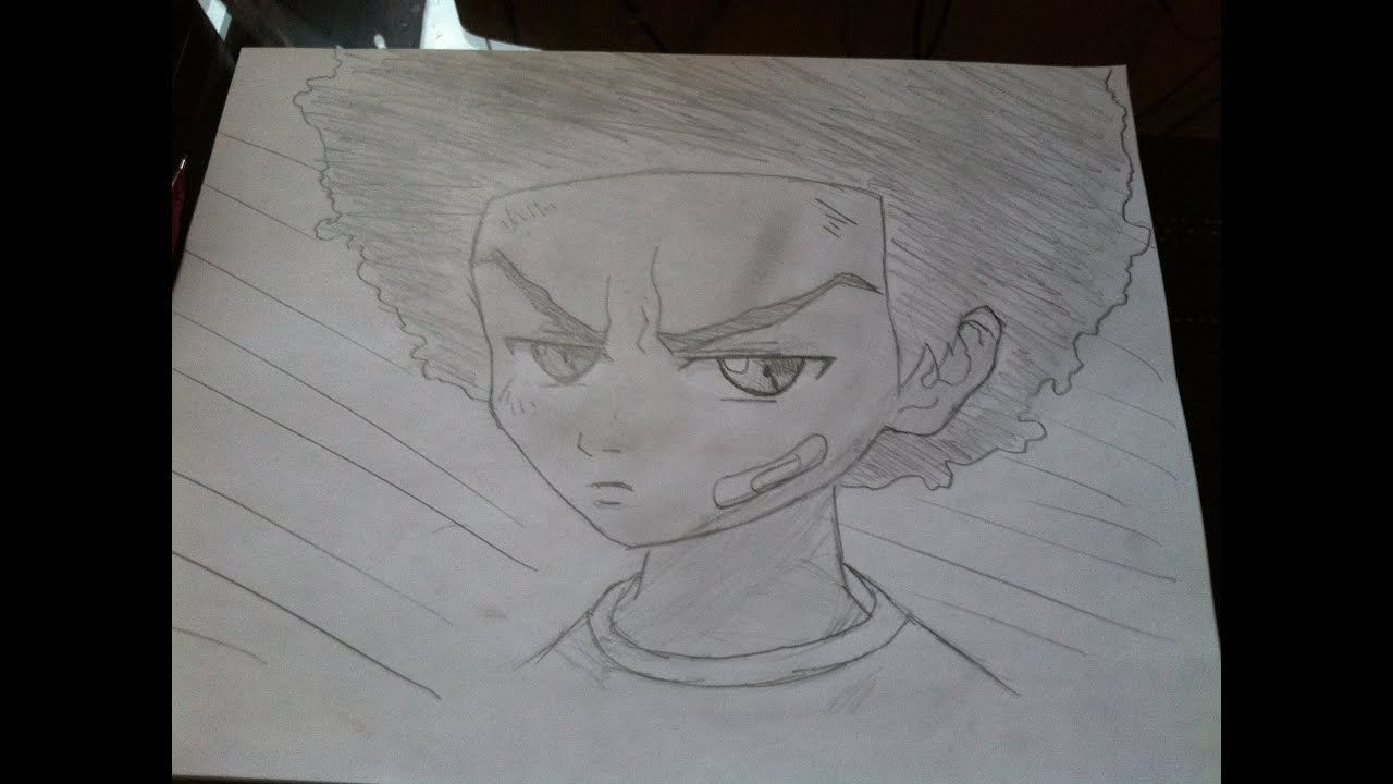 how to draw huey freeman from the boondocks comment dessiner huey freeman des boondocks
