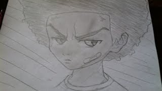 vuclip How to Draw Huey Freeman from the Boondocks- Comment dessiner Huey Freeman des Boondocks