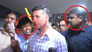 Akshay Kumar On Why His Bodyguard Hit A Fan At Airport