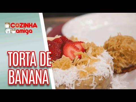 Torta De Banana Com Coco Caramelizado - Dalva Zanforlin | Cozinha Amiga (10/05/18)
