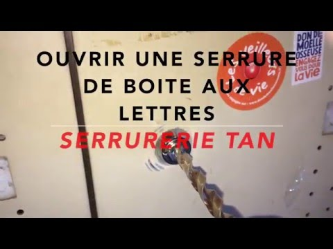 tuto comment ouvrir une serrure de boite aux lettres sans cl youtube. Black Bedroom Furniture Sets. Home Design Ideas